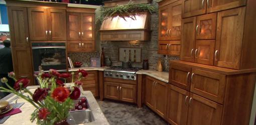 Wood kitchen cabinets