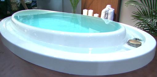 Overflow bathtub.