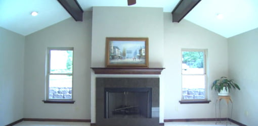 Completed family room in new addition.