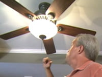 Danny Lipford with paddle ceiling fan.