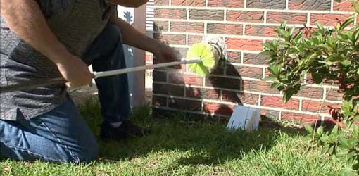 Cleaning a clothes dryer vent pipe is important to prevent fires.