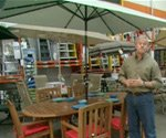 Danny Lipford with Hampton Bay Rectangular Solar Market Umbrella