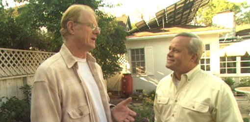 Actor and geen living advocate Ed Begley, Jr. with Danny Lipford.