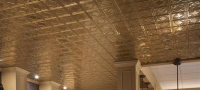 Stamped Metal Ceiling