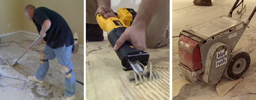 Remove Glue and Adhesive from Floors