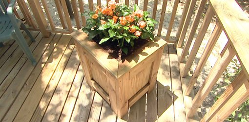 Completed outdoor planter.
