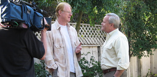 Actor Ed Begley, Jr. talks shop with Danny at Ed's home in California