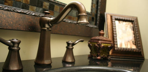 Moen faucet from the Vestige collection