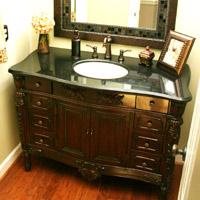 Furniture style bathroom vanity