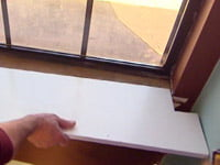 Installing shelf board on windowsill