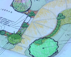 Landscaping plan for the Kuppersmith Project house