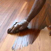 Staining wood floor