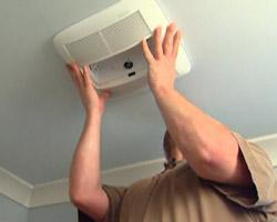 Installing Broan-NuTone bathroom vent fan