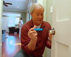 Danny Lipford installing Schlage locksets on interior doors