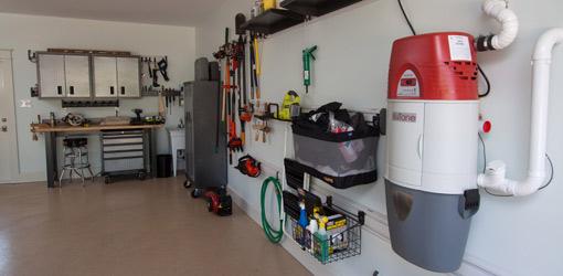 Interior of garage