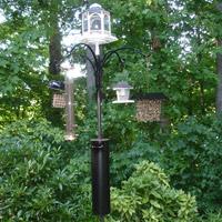 Bird feeder squirrel baffle