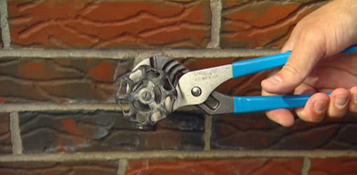 Repairing a dripping outdoor faucet