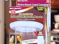 Cordless Ceiling/Wall Light with Remote Control