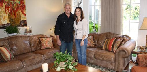 Danny Lipford with interior designer Marisa Smith in a room she decorated