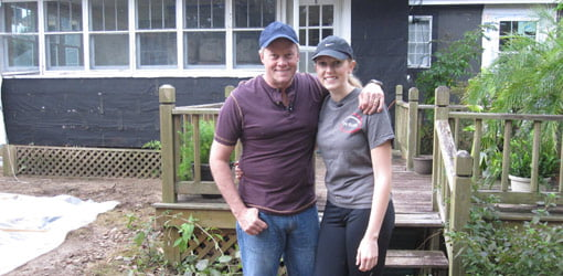 Danny Lipford with daughter Chelsea at the First Time Homeowner house.