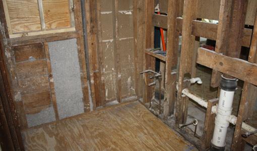 First Time Homeowner bathroom after demolition.