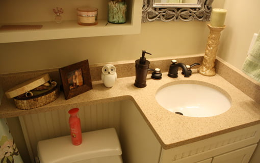 First Time Homeowner bathroom after remodeling.