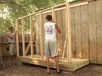 Storage shed addition.