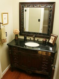 Furniture style vanity.