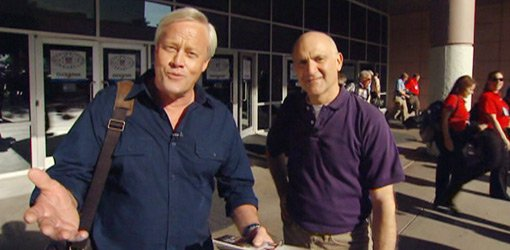 Danny Lipford and Joe Truini outside the National Hardware Show.