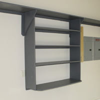 Garage shelving unit.