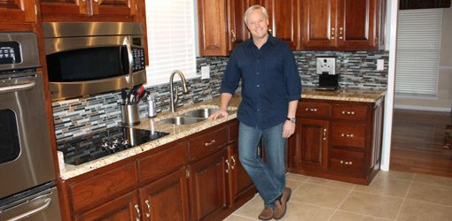 Danny Lipford in completed kitchen.