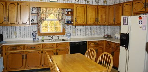 Dated 1960s kitchen before remodeling.
