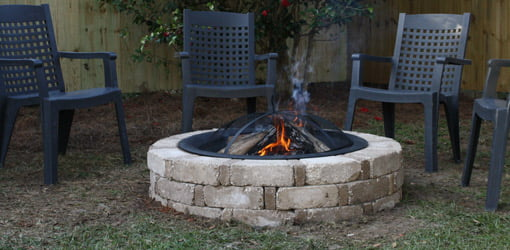 Completed Pavestone fire pit.