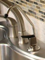 Water filtration faucet.