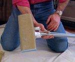 Pole Sander made from sponge mop