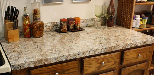 Countertop after refinishing with Giani Granite Countertop Paint.