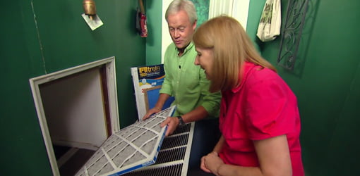 Replacing the air filter on your HVAC system regularly improves indoor air quality.