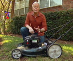 Danny Lipford with lawn mower