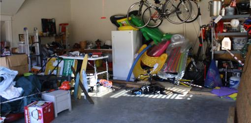 Garage before makeover.