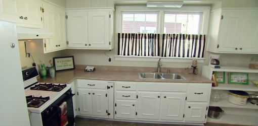 Kitchen after makeover.