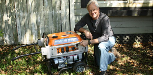 Danny Lipford with Generac generator.