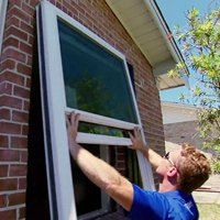 Installing replacement windows.