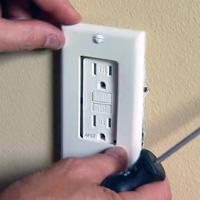 Installing Leviton AFCI outlet.