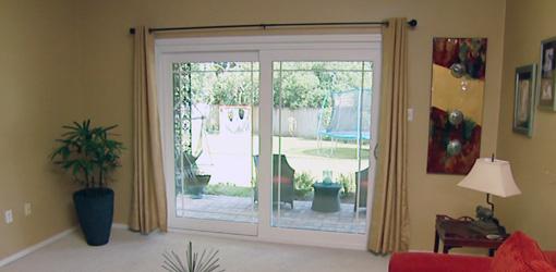 New Window World sliding glass door unit with SolarZone glass.
