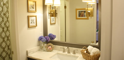 Small bathroom after remodeling.
