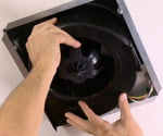 Replacing bath vent fan.