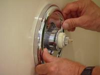Replacing faucet trim ring.