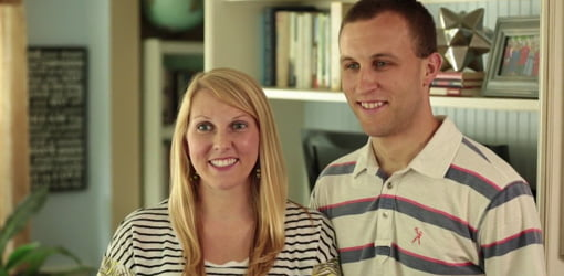 Homeowners Chelsea and Brandon Wolf.
