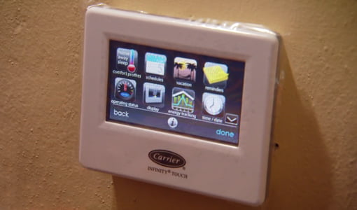 Carrier Infinity Touch control on wall.