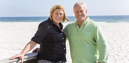 Sharon and Danny Lipford in Orange Beach, Ala.